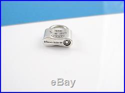 Tiffany & Co Silver 1837 Padlock Charm Pendant 4 Necklace / Bracelet