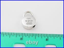 Tiffany & Co Silver 1837 Round Circle Padlock Pendant Charm 4 Necklace Bracelet