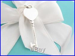 Tiffany & Co Silver 925 Return To Heart Key Pendant Charm 4 Necklace Bracelet
