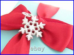 Tiffany & Co Silver 925 Snowflake Snow Flake Charm Pendant For Necklace Bracelet