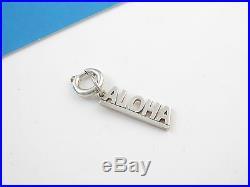 Tiffany & Co Silver ALOHA Charm Circle Clasp 4 Necklace/Bracelet