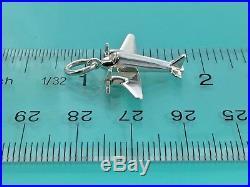 Tiffany & Co Silver Airplane Plane Charm Pendant 4 Bracelet/ Necklace 181129D