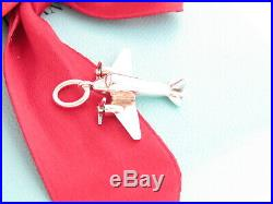 Tiffany & Co Silver Airplane Plane Charm Pendant For Necklace Bracelet