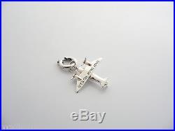 Tiffany & Co Silver Airplane Plane Pilot Clasp Charm Rare 4 Necklace Bracelet