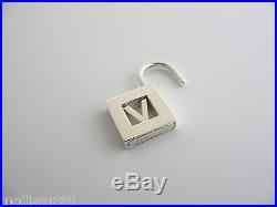 Tiffany & Co Silver Alphabet V Padlock Pendant Charm 4 Necklace Bracelet Rare