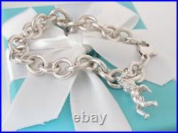Tiffany & Co Silver Angel Cherub Charm Bracelet Pouch