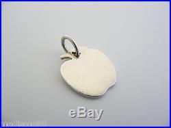 Tiffany & Co Silver Apple Teacher Charm Pendant Rare (for Necklace / Bracelet)