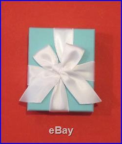 Tiffany & Co Silver Blue Enamel Shopping Bag Charm Pendant for Necklace Bracelet