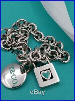 Tiffany & Co. Silver Charms 18 Bracelet