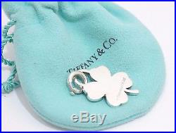Tiffany & Co. Silver Clover Heart Charm With Clasp For Necklace Bracelet