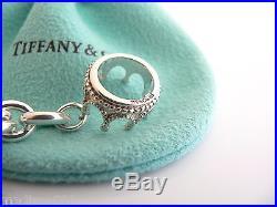 Tiffany & Co Silver Crown Princess Charm Pendant Bracelet Bangle Chain Clasp