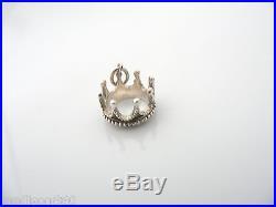 Tiffany & Co Silver Crown Princess Pendant Charm 4 Necklace Bracelet