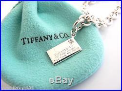 Tiffany & Co Silver Diamond Envelope Charm Pendant Bracelet Bangle Excellent