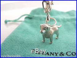 Tiffany & Co Silver Dogs Poodle Westie Retriever Charm Bracelet Bangle 7.9 Inch