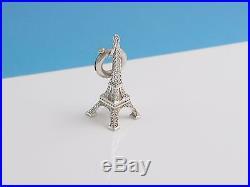 Tiffany & Co Silver Eiffel Tower Charm Pendant 4 Necklace Bracelet
