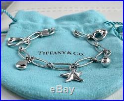 Tiffany & Co. Silver Elsa Peretti Heart Starfish Teardrop Bean Charms Bracelet
