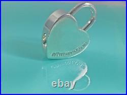 Tiffany & Co Silver I Love You Heart Padlock Charm for Necklace/ Bracelet 211R