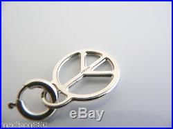 Tiffany & Co Silver Large Peace Sign Circle Charm Pendant for Necklace Bracelet