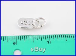 Tiffany & Co Silver Lock Key Hole Charm Clasp Pendant 4 Necklace Bracelet