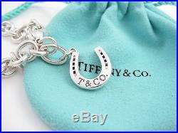 Tiffany & Co Silver Lucky Horseshoe Horse Shoe Charm Bracelet Bangle