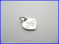 8bc49146eeffb Tiffany & Co Silver Mom Heart Pendant Clasp Charm Jump Ring 4 ...