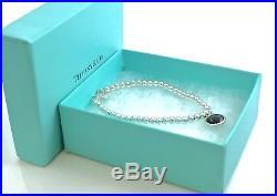Tiffany & Co Silver Paloma Picasso Dot Onyx Gem Charm Bead Bracelet 7in 190113A