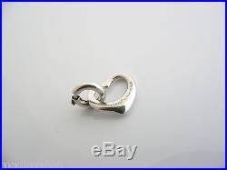 Tiffany & Co Silver Peretti Open Heart Charm Pendant Clasp 4 Necklace Bracelet