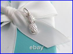 Tiffany & Co Silver Pineapple Charm Pendant For Necklace Bracelet
