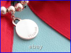Tiffany & Co Silver Return To Tiffany Circle Mini Bead Charm Bracelet 7