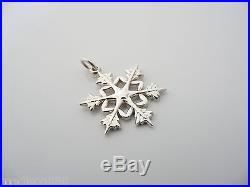 Tiffany & Co Silver Snowflake Charm Clasp 4 Necklace Bracelet Excellent Rare