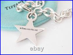 Tiffany & Co Silver Star Charm Bracelet Bangle