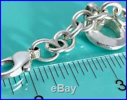Tiffany & Co Silver Stencil Charm Bracelet Star Moon Heart Sun Horse 7.5 / 41gr