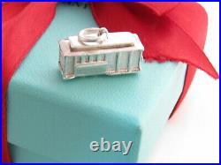 Tiffany & Co. Silver Trolley Diamond Charm Pendant For Necklace Bracelet