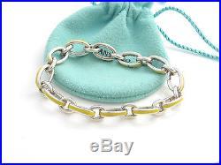 2e4fb320a8888 Tiffany & Co Silver Yellow Enamel Clasping Clasp Charm 7.875 Inch ...