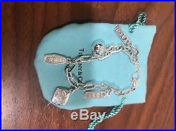 Tiffany & Co. Sterling Silver 1837 Collection Multi-charm Bracelet 7
