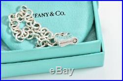 Tiffany & Co Sterling Silver 1837 Pad Lock Charm 7.5 Chain Bracelet w BOX POUCH