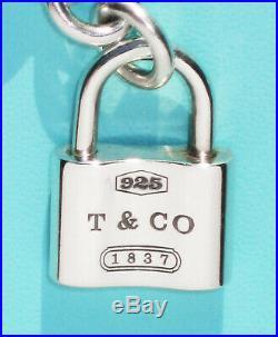 Tiffany & Co Sterling Silver 1837 Padlock Charm Bracelet