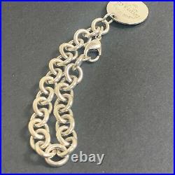 Tiffany & Co. Sterling Silver 925 Return To Round Tag Charm Bracelet NO BOX SV