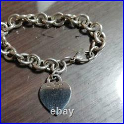 Tiffany & Co. Sterling Silver 925 Return to Heart Tag Charm Bracelet NO BOX
