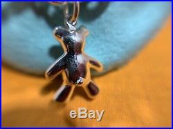 Tiffany Co Sterling Silver 925 Teddy Bear Charm Link Bracelet Size 7