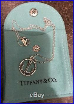 Tiffany & Co. Sterling Silver Anchor charm And Chain. Excellent Condition