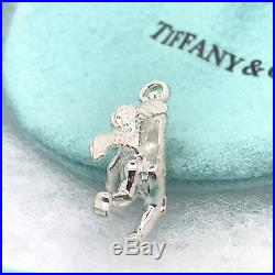 Tiffany & Co Sterling Silver Angel Cherub Charm Pendant Necklace Bracelet W Box