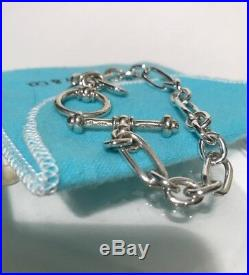 Tiffany & Co. Sterling Silver Collection Toggle Charm Bracelet 7.5 19GM