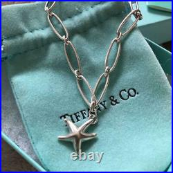 Tiffany & Co. Sterling Silver Elsa Peretti Starfish Charm Bracelet NO BOX Used 3