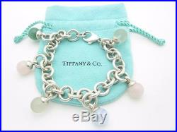 Tiffany & Co. Sterling Silver Fascination Multi Gemstone Charm Dangle Bracelet