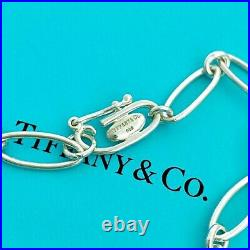 Tiffany & Co. Sterling Silver Oval Links Starfish Charm Bracelet 7 With Box