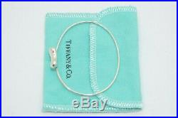 Tiffany & Co. Sterling Silver Peretti Bean Charm Bracelet Bangle