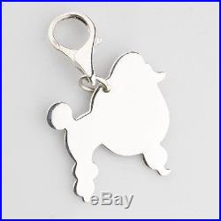 Tiffany & Co. Sterling Silver Poodle Tag Charm for Bracelet! Retired Piece