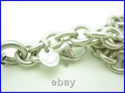 Tiffany & Co. Sterling Silver Red Enamel Ladybug Charm Bracelet 7.5 A