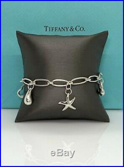 Tiffany & Co. Sterling silver-Elsa Peretti 5 Charm Oval Link Bracelet 7
